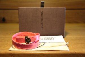 Louis Vuitton Bracelet en cuir rose