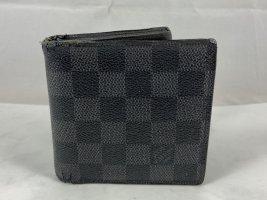 Louis Vuitton Portemonnee zwart-zilver Leer