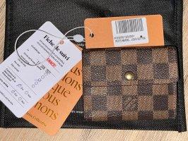 Louis Vuitton Porte-cartes brun foncé-brun sable