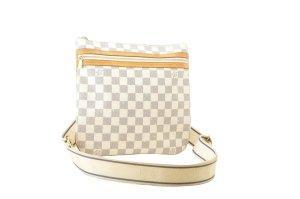 Louis Vuitton Sac porté épaule blanc fibre textile