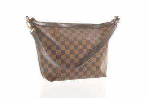 Louis Vuitton Bolsa de hombro marrón fibra textil