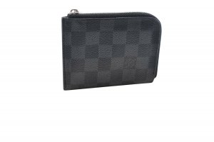 Louis Vuitton Cartera gris Cuero