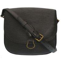 Louis Vuitton Shoulder Bag black leather