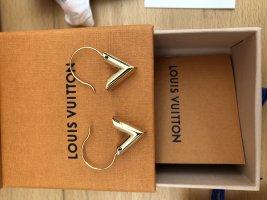 Louis Vuitton Pendientes tipo aro marrón arena-amarillo oscuro