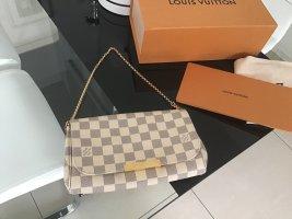 Louis Vuitton Pochette beige clair tissu mixte