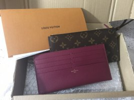 Louis Vuitton Wallet purple-bronze-colored leather