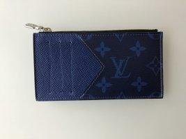 Louis Vuitton Portefeuille bleu fluo tissu mixte
