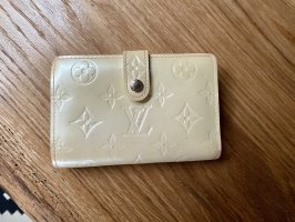 Louis Vuitton Geldbörse Geldbeutel Portmonee Vintage Lackleder Creme weiß