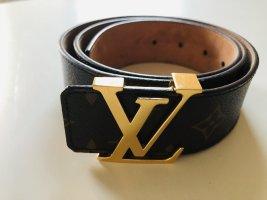 Louis Vuitton Cinturón de cuero multicolor tejido mezclado