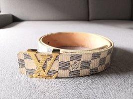 Louis Vuitton Cinturón de lona color oro-beige claro