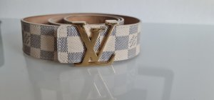 Louis Vuitton Leather Belt light grey