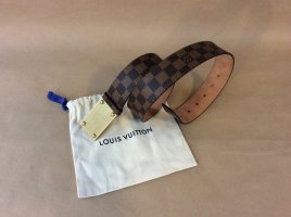Louis Vuitton Leather Belt light brown mixture fibre