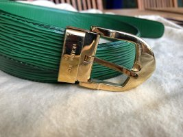 Louis Vuitton Leather Belt green
