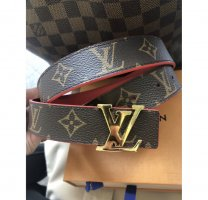 Louis Vuitton initials wendegürtel Monogram canvas rot