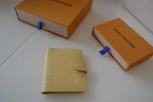Louis Vuitton Card Case cream-pale yellow leather