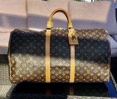 Louis Vuitton Travel Bag dark brown-light brown