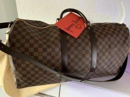 Louis Vuitton Keepall 55 Bandouliere Damier Ebene braun Schachbrettmuster