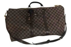 Louis Vuitton Keepall 55 braun Damier Ebene Canvas