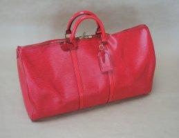 Louis Vuitton Travel Bag red