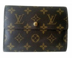 Louis Vuitton Wallet brown cotton