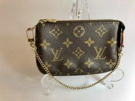 Louis Vuitton Minitasje donkerbruin-goud
