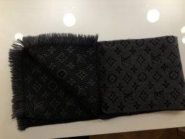 Louis Vuitton Bufanda de lana negro-gris Lana
