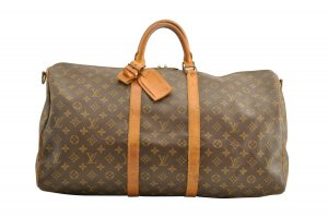 Louis Vuitton Sac à main brun fibre textile