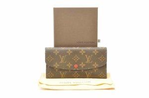 Louis Vuitton Cartera rojo fibra textil