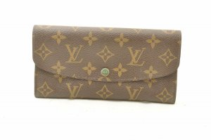 Louis Vuitton Cartera verde fibra textil
