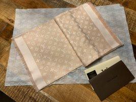 Louis Vuitton Fazzoletto da collo rosa pallido-bianco sporco