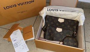 Louis Vuitton Gekruiste tas veelkleurig Leer