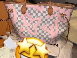 Louis Vuitton Neverfull MM Damier Azur Tahitienne Rose Ballerine Fullset