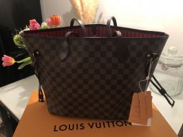 Louis Vuitton Neverfull MM Damier Ebene Canvas Shopper Weekender Top