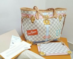 Louis Vuitton Neverfull MM Summer Trunks Damier Azur FullSet