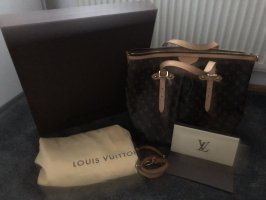 Louis Vuitton Carry Bag brown-gold-colored leather