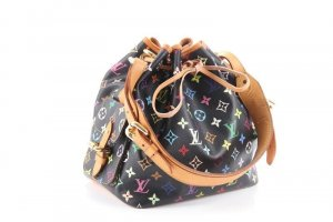 Louis Vuitton Petite Sac Noe Monogram Multicolor schwarz