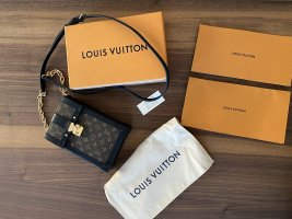 Louis Vuitton Schoudertas zwart-bruin