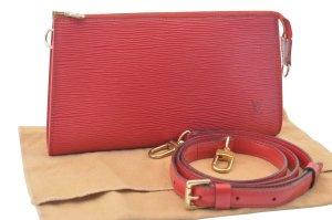 Louis Vuitton Pochette rouge cuir