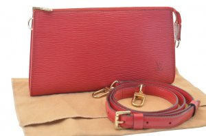 Louis Vuitton Clutch red leather
