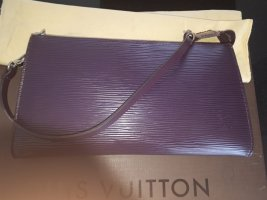 Louis Vuitton Pochette silver-colored-brown violet leather