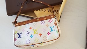 Louis Vuitton Pochette bianco