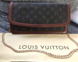 Louis Vuitton Sac de soirée brun-brun foncé cuir