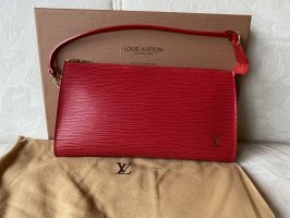 Louis Vuitton Pochette EPI Rot Tasche Clutche