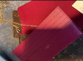 Louis Vuitton Bolso de mano carmín Cuero