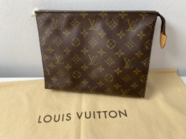 Louis Vuitton Clutch grey brown-dark grey