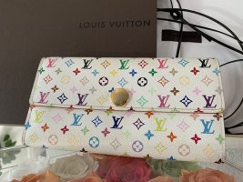 Louis Vuitton Portemonnaie Sarah Monogram Multicolor weiss Geldbörse Portefeuille Long Wallet