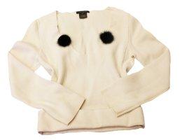 LOUIS VUITTON Pullover creme 100% Kaschmir Gr. 38