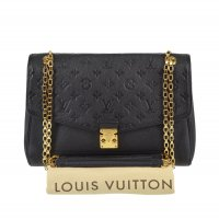 Louis Vuitton Borsa a spalla nero-oro Pelle