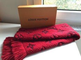 Louis Vuitton Écharpe en laine rouge carmin