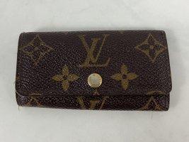 Louis Vuitton Schlüsseletui Multicles Key Card Case Pouch Pochette Cles Monogram Portemonnaie Geldbeutel Geldbörse